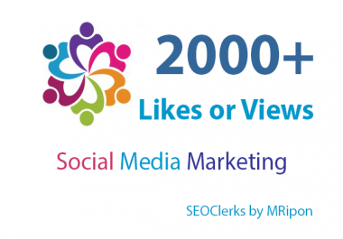 2000+ High Quality Photo Likes or Video Views