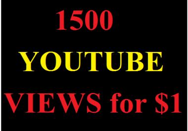 1500 Youtube Views