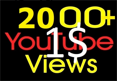 Instant Start 1500-2000+ Youtube good quality Views with 5 likes