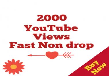 1000-2000 HQ Non drop Youtube Vi e w s+01 Lik es Bonus super speed within 12-72 hours