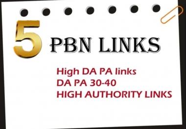Manually Build 5 HOMEPAGE PBN backIinks DA/PA 42-30