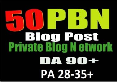 GOOGLE 1st Page Permanent 50 PBN BLOG POST DA 95+ PA 28-35+