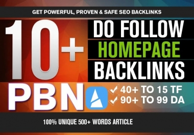 5 Permanent DoFollow High DA 90 PA 40 PBN Posts Backlinks