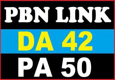 Build 1 HOMEPAGE PBN backIinks DA 42 PA 50