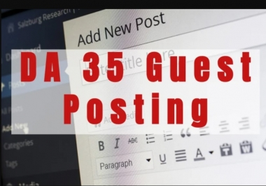 Publish 4 Guest Posts On General Blogs DA 30+ PA 40+ Google Fast Ranking
