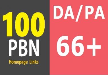 100 DA/PA 60+ Permanent High Quality DoFollow PBN Links