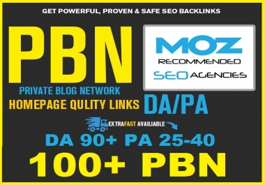 100 High Quality PBN Permanent Manual DA 90 PA 28-40 Homepage Links