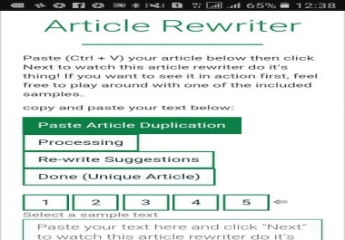 100% unique and SEO keyword based 200 article rewrite