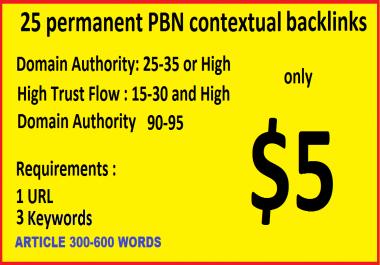 Permanent 25 Tumblr and blogspot PBN blog posts DA99+ and PA28-35+