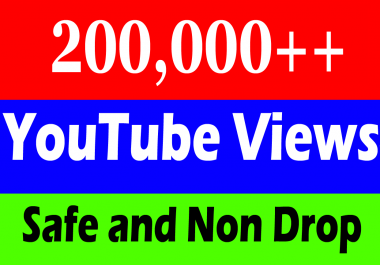 200k Or 200,000 Or 200000 YouTube views with 2000 Likes