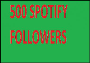 Get 500 Spotify Followers