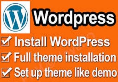 Install any wordpress theme and setup like demo in 5 hours