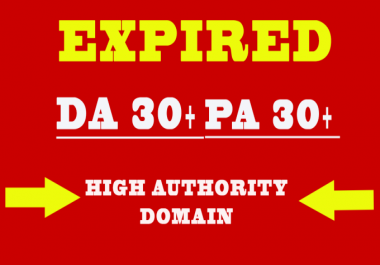 I will find an expired domain with High Page Authority and Domain Authority