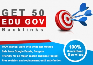 50 Edu backlinks seo service