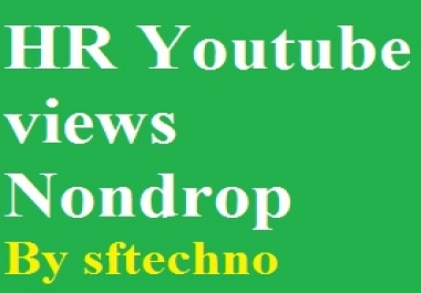 Good retention Youtube video promotion no drop guarantee