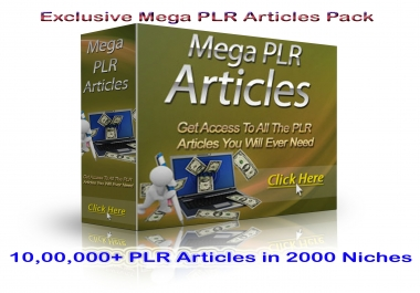 send My Massive 1000000 PLR Article Collection to Never Run Out of Content