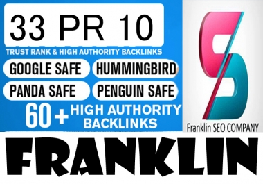 I will do skyrocket your Google Rankings with 33 PR10 High Pr Seo Social Backlinks