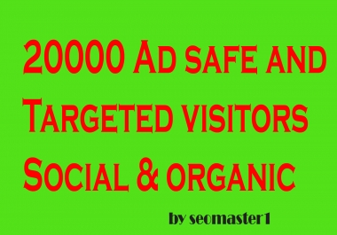 10000 Targeted Real and Adsense safe HUMAN Traffic