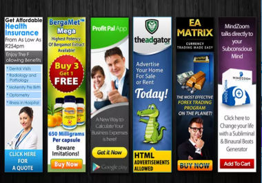 I will create web banner or ad