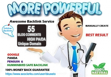 I will do 55 Manual Blog Comments High PA DA