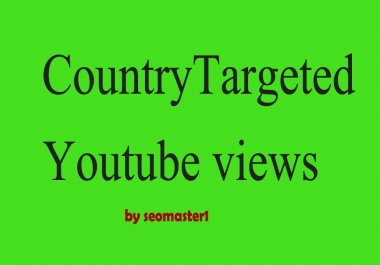 1000+ USA / Country targeted Real Youtube promotion + 10 non drop USA subs