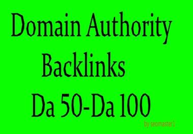 build top domain authority backlinks da 50 to da 100