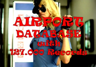 CSV DATABASE 127000 records with Airports, Frequencies, Runways etc