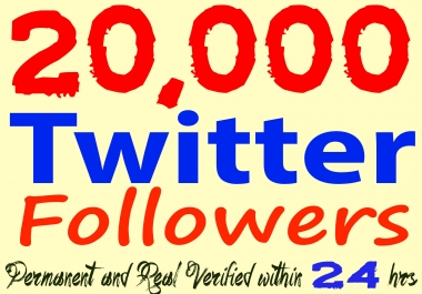 Get 20,000+ Twitter Foll0wers High Quality and Permanent in 24 hours