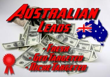 Fresh AUSTRALIA geo, niche targeted business leads