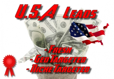 Fresh USA geo, niche targeted business leads