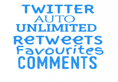Twitter Auto Retweets/Fav/Comments on Unlimited Future Tweets