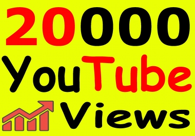 Get 20,000+ You-Tube Vie'ws & Bonus Lik'es with High Retention lifetime guarantee