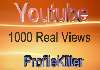 1000+ Youtube Real People Highest Quality Views
