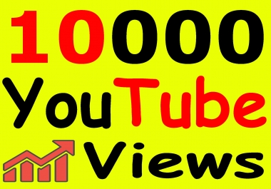 Get 10,000+ You-Tube Vie'ws & Bonus Lik'es with High Retention lifetime guarantee