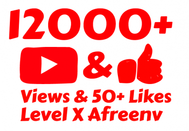 add 12,000 to 14000+ High Quality Youtube vie ws