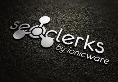 fast convert your logo into 3D MockUp Silver design