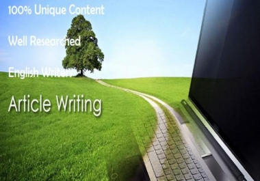 I will write and send one hundred 500 words article in five niches