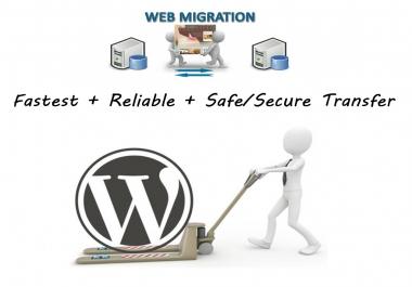 I will migrate Wordpress Website