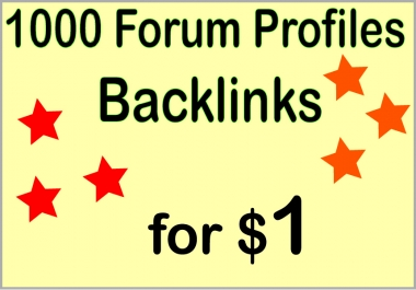 Create over HQ PR 1000 forum profile ?backlinks