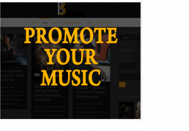 get your music featured on a very POPULAR music website