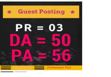 do guest post on DA57 PA60