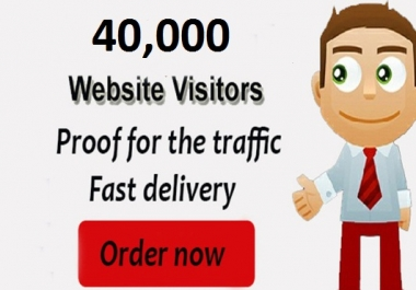 I will Drive 40000 Targeted Worldwide Visitors Traffic to Website
