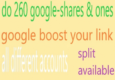 do 260 seo social google-shares & ones google boost your link