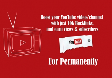 YouTube Marketing Strategy, 50,000 Backlinks To Boost Up Your Video Rank