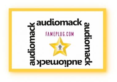 Music promotion Audiomack Promotion blog service 6 blogs