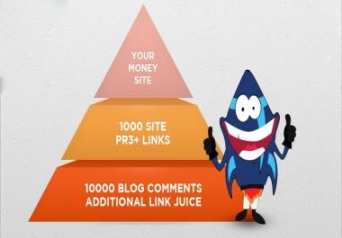 Best Link Pyramid Service + 10000 Blog Comments +  Unique Backlinks