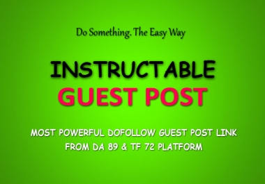1 Most Powerful Dofollow Guest Post - DA 89 And TF 72