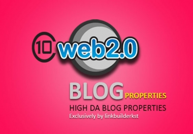 10 Powerful Web 2.0 Blog Properties with Unique Content