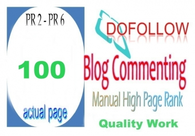I will do 70 High PR 2 To 6 Blog Comments