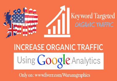 Bring 15,000 Real Visitors through Organic Search Traffic for your keyword to boost SEO
